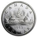 1963 Canada Silver Dollar BU/Prooflike