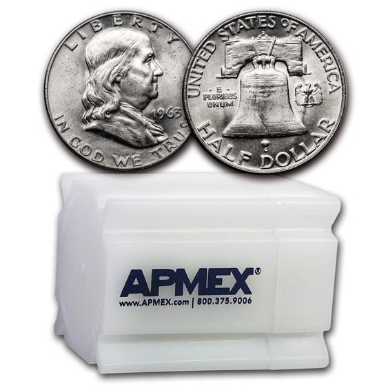 1963-D Franklin Half Dollar 20-Coin Roll BU