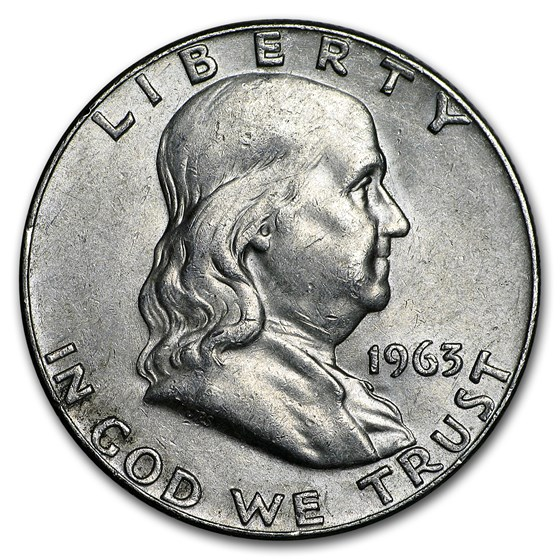 1963-D Franklin Half Dollar Fine/AU