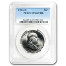 1963-D Franklin Half Dollar MS-64 PCGS (FBL)
