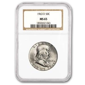 1963-D Franklin Half Dollar MS-65 NGC