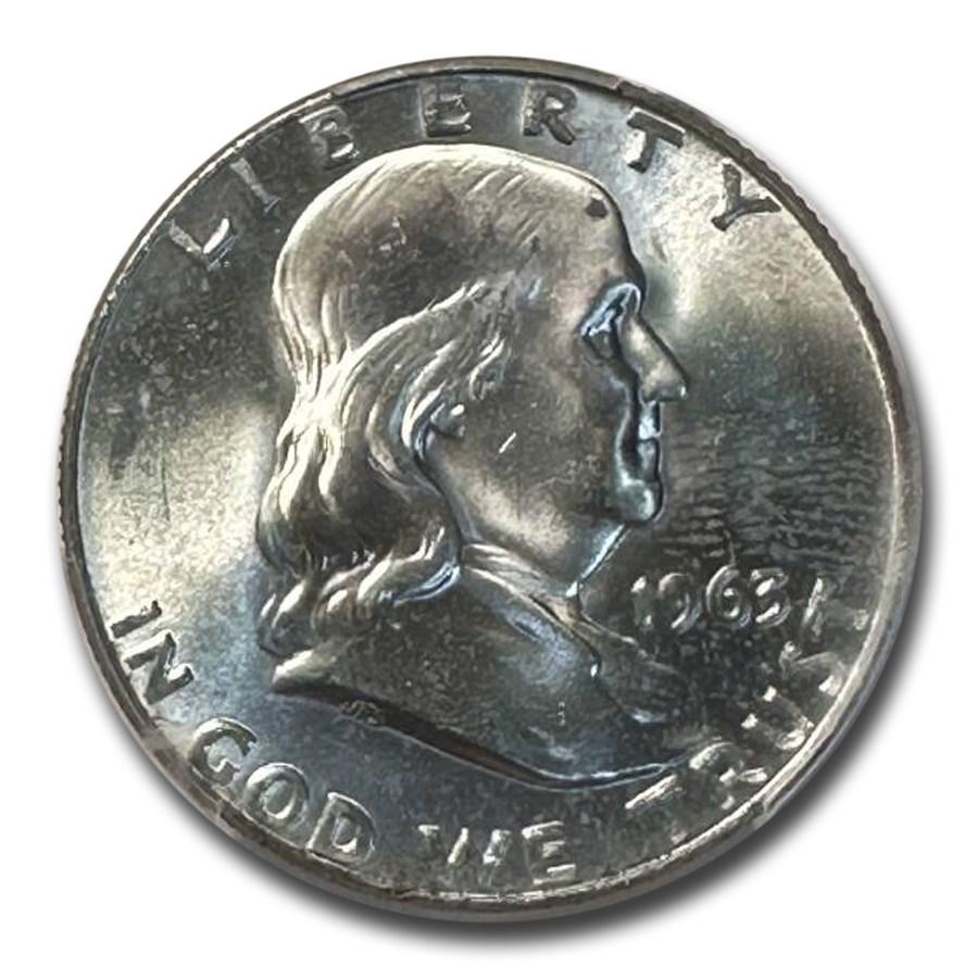 1963-D Franklin Half Dollar MS-66 PCGS
