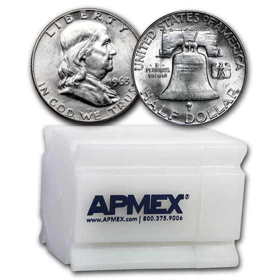 1963 Franklin Half Dollar 20-Coin Roll BU