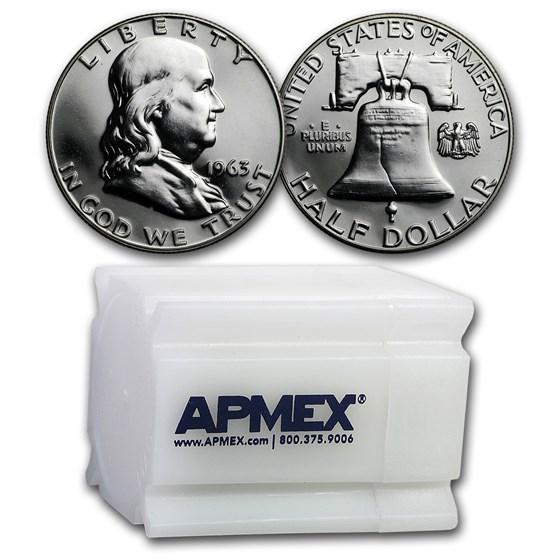 1963 Franklin Half Dollar 20-Coin Roll Proof