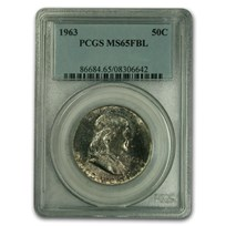 1963 Franklin Half Dollar MS-65 PCGS (FBL)
