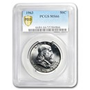 1963 Franklin Half Dollar MS-66 PCGS