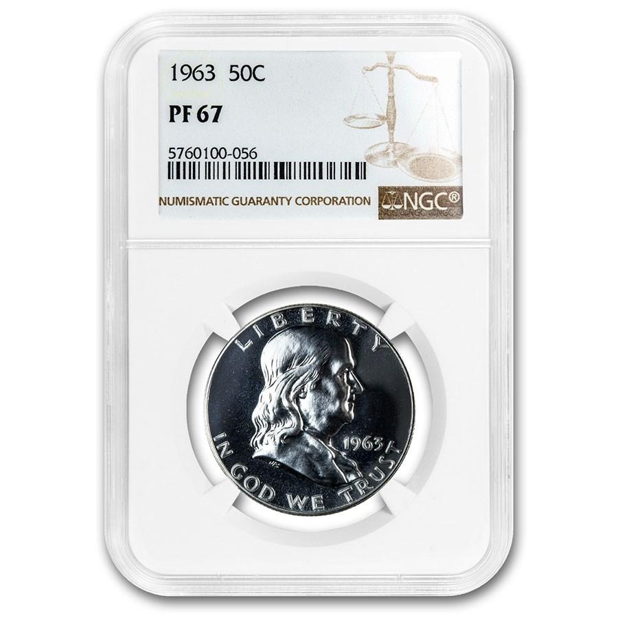 1963 Franklin Half Dollar PF-67 NGC