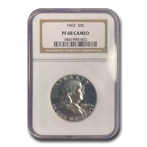 1963 Franklin Half Dollar PF-68 CAMEO NGC
