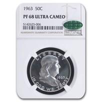 1963 Franklin Half Dollar PF-68 UCAM NGC CAC