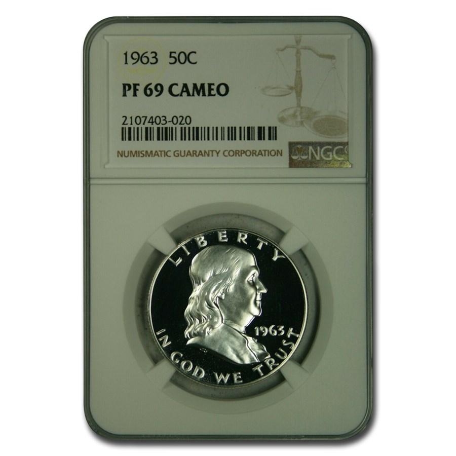 1963 Franklin Half Dollar PF-69 Cameo NGC