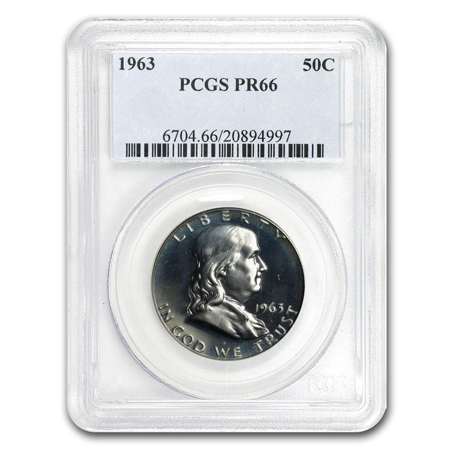 1963 Franklin Half Dollar PR-66 PCGS
