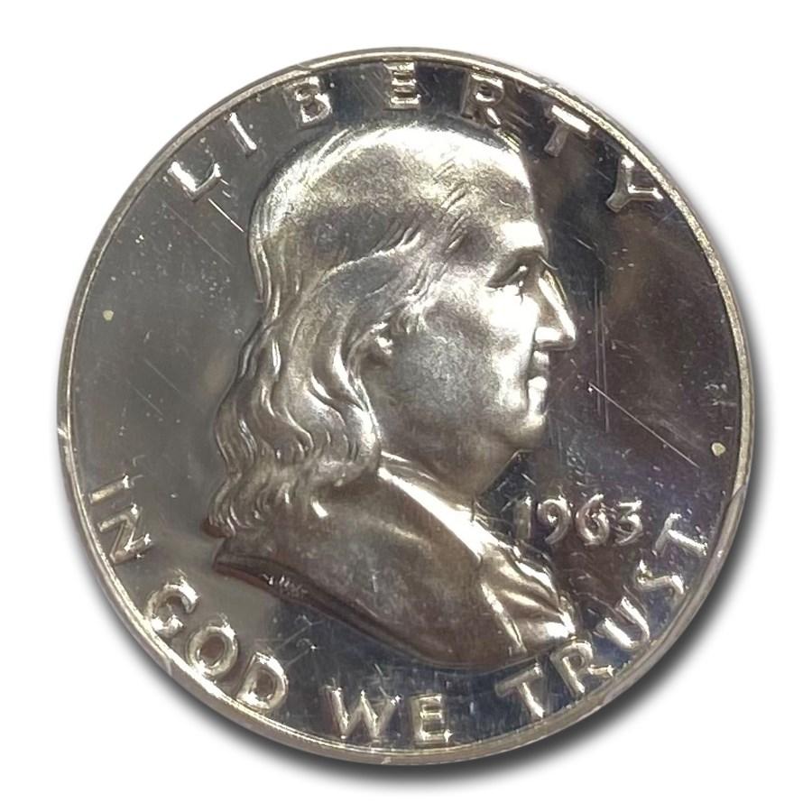 1963 Franklin Half Dollar PR-67 Deep Cameo PCGS