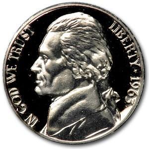 1963 Jefferson Nickel Gem Proof