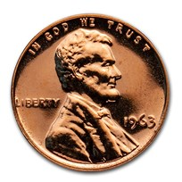 1963 Lincoln Cent Gem Proof (Red)