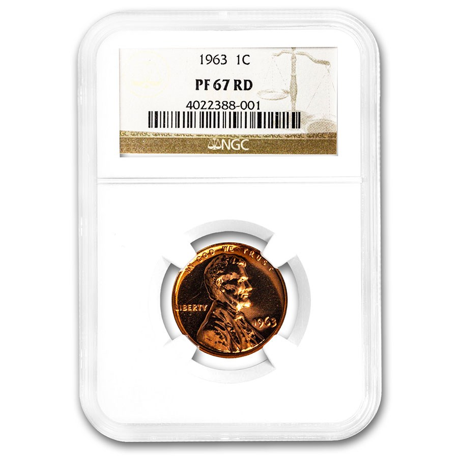 1963 Lincoln Cent PF-67 NGC (Red)