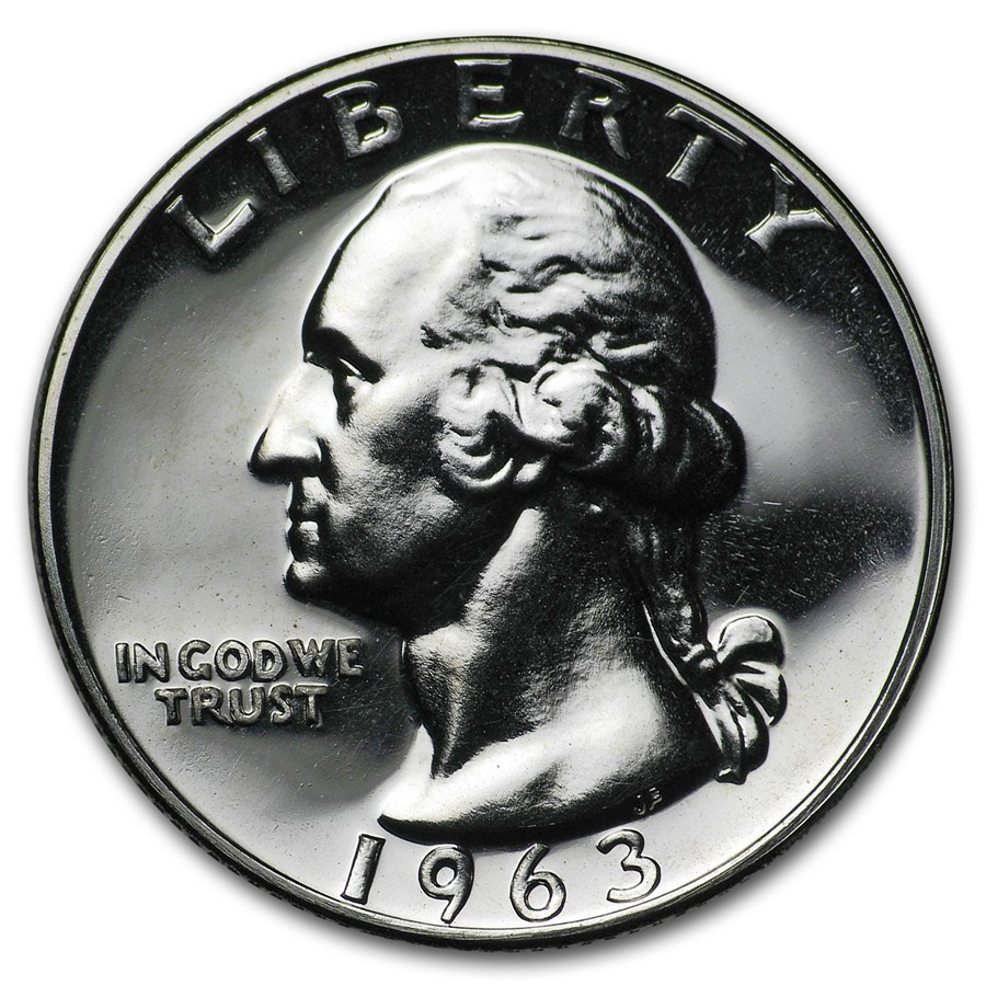 1963 Washington Quarter Gem Proof
