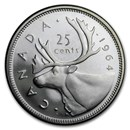 1964 Canada Silver 25 Cents BU &/or Prooflike