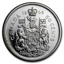 1964 Canada Silver 50 Cents Elizabeth II BU/Prooflike