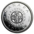 1964 Canada Silver Dollar Charlottetown Commem BU/Prooflike