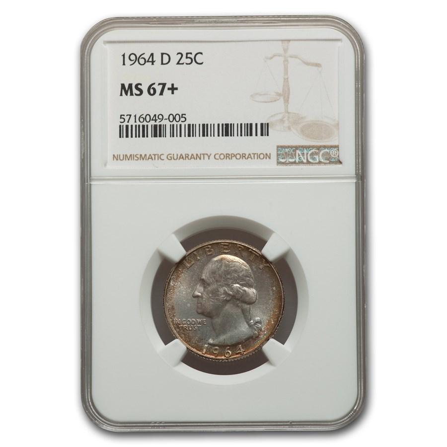 1964-D Washington Quarter MS-67+ NGC