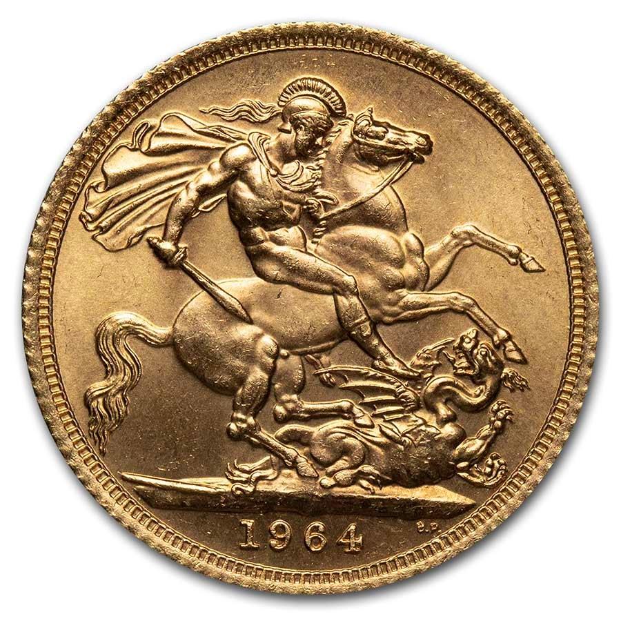 1964 Great Britain Gold Sovereign Elizabeth II BU