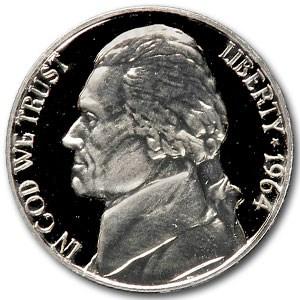 1964 Jefferson Nickel Gem Proof