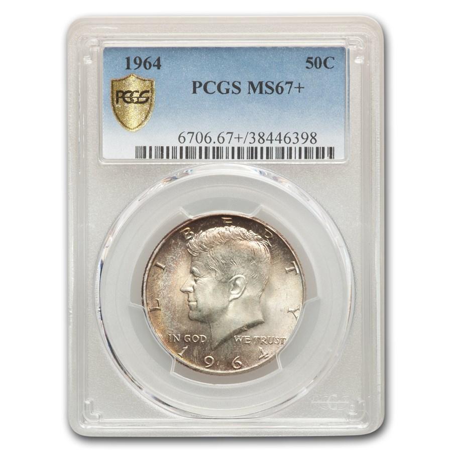 1964 Kennedy Half Dollar MS-67+ PCGS