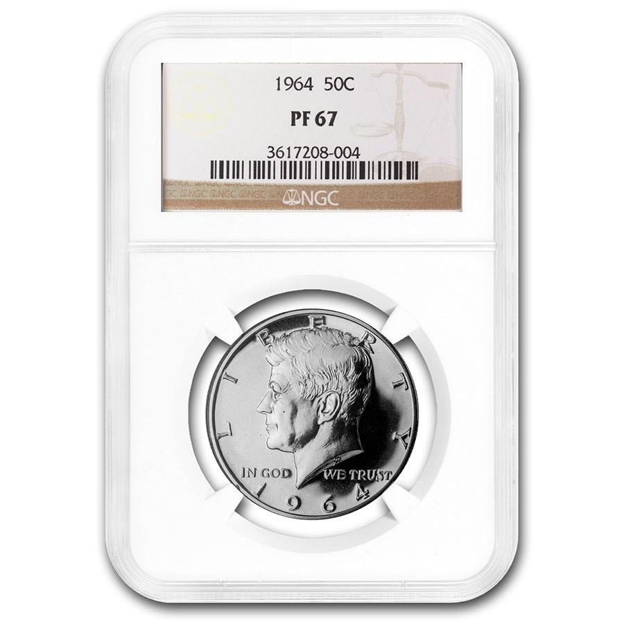 1964 Kennedy Half Dollar PF-67 NGC