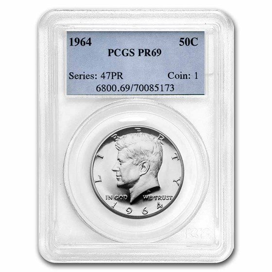 1964 Kennedy Half-Dollar PR-69 PCGS