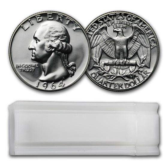 1964 Proof Washington Quarter 40-Coin Roll