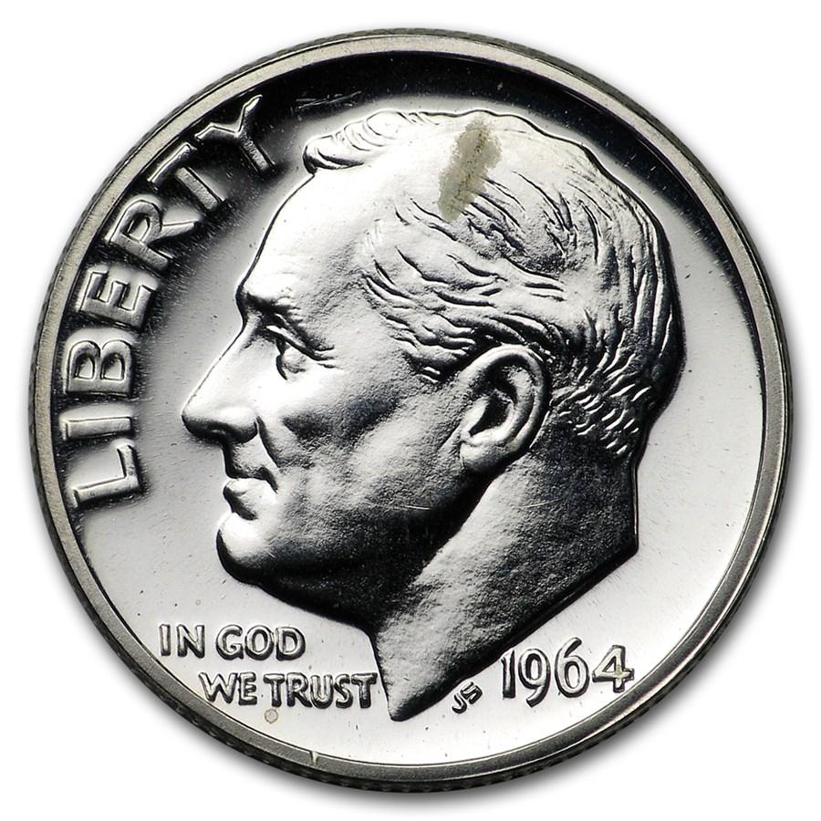 1964 Roosevelt Dime Gem Proof