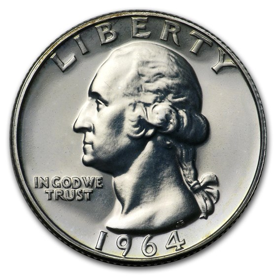 1964 Washington Quarter Gem Proof