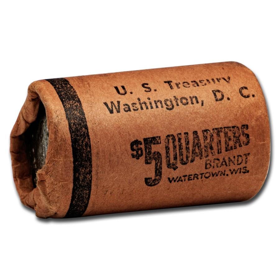 1964 Washington Quarters 20-Coin Roll BU (U.S. Treasury Wrapped)