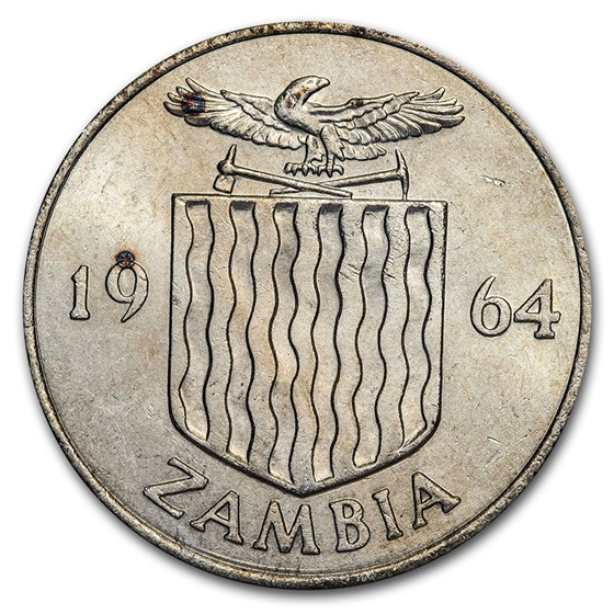 1964 Zambia 2 Shillings Bohor Reedback BU/Proof