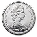 1965-1966 Canada Silver 50 Cents Elizabeth II Avg Circ
