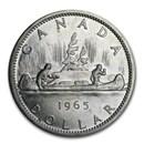 1965 Canada Silver Dollar Elizabeth II BU