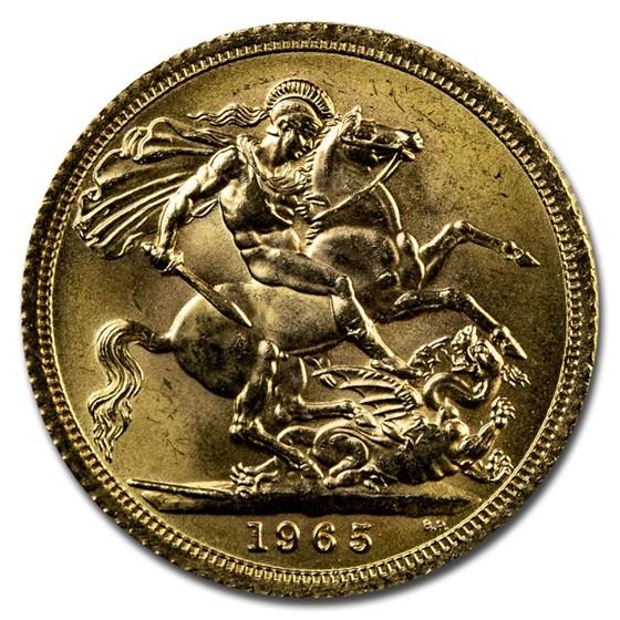 1965 Great Britain Gold Sovereign Elizabeth II BU