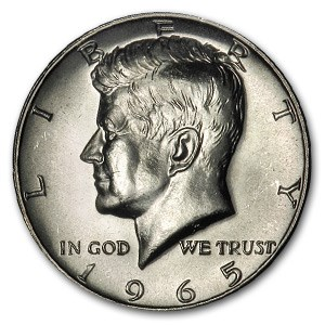1965 Kennedy Half Dollar BU