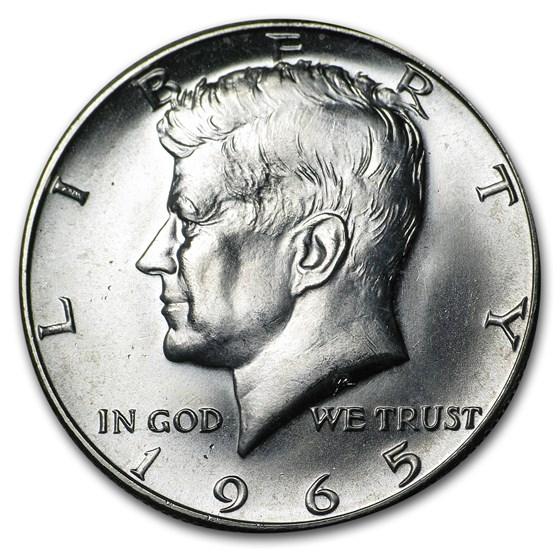 1965 Kennedy Half Dollar SMS