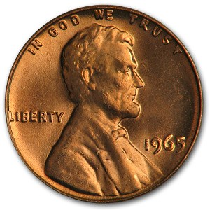 1965 Lincoln Cent BU (Red)