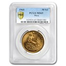 1965 Peru Gold 50 Soles Liberty MS-65 PCGS