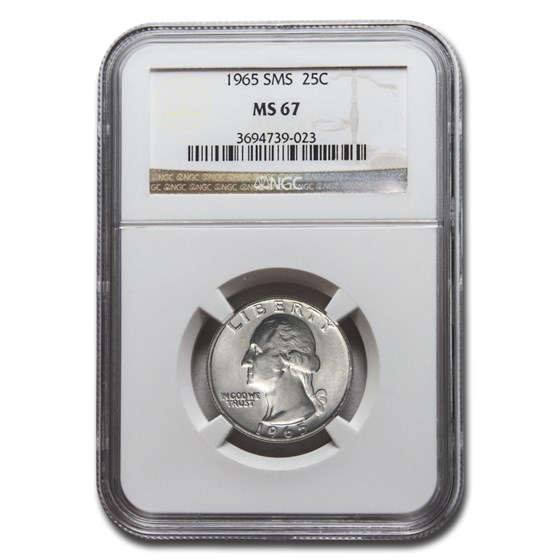 1965 SMS Washington Quarter MS-67 NGC