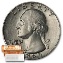1965 Washington Quarter 40-Coin Roll BU