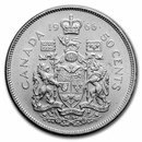 1966 Canada Silver 50 Cents Elizabeth II BU/Prooflike