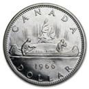 1966 Canada Silver Dollar BU/Prooflike