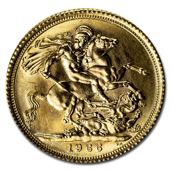 1966 Great Britain Gold Sovereign Elizabeth II BU