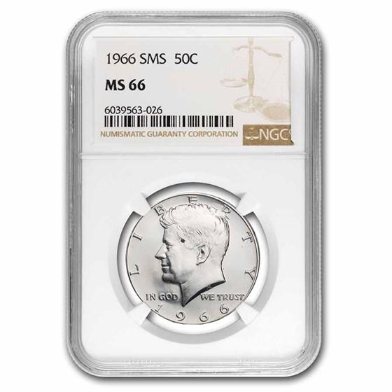 1966 Kennedy Half Dollar SMS MS-66 NGC