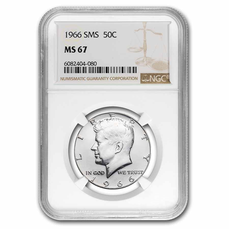 1966 Kennedy Half Dollar SMS MS-67 NGC
