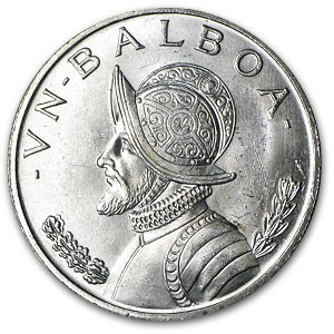 1966 Panama Silver Balboa BU