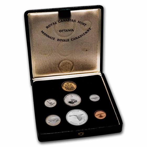 1967 Canada 7-Coin Centennial Proof Set w/$20 Gold